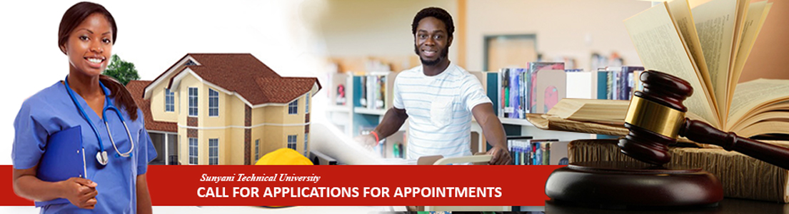 SUNYANI TECHNICAL UNIVERSITY, Call For Applications For Appointments